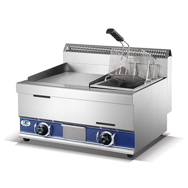 Gas Griddle W/ Gas Fryer HGG-751