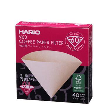 Hario V60 Paper Filter For White 01 Dripper