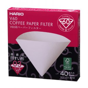 Hario V60 Paper Filter For White 03 Dripper